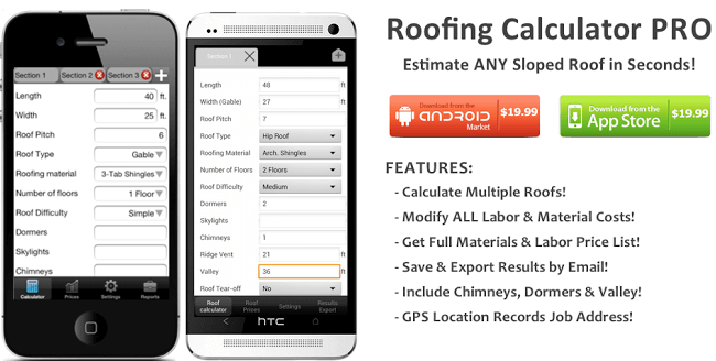 Roofing Calculator PRO App