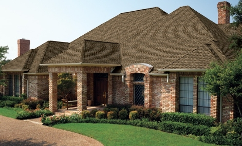 image of a house with asphalt shingles roof